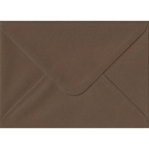 Chocolate Brown 114mm x 162mm 100gsm Gummed C6/Quarter A4 Sized Envelope