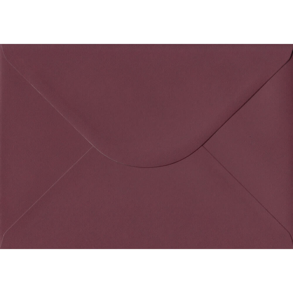 100 A5 Red Envelopes. Deep Bordeaux Red. 162mm x 229mm. 120gsm paper. Gummed Flap.