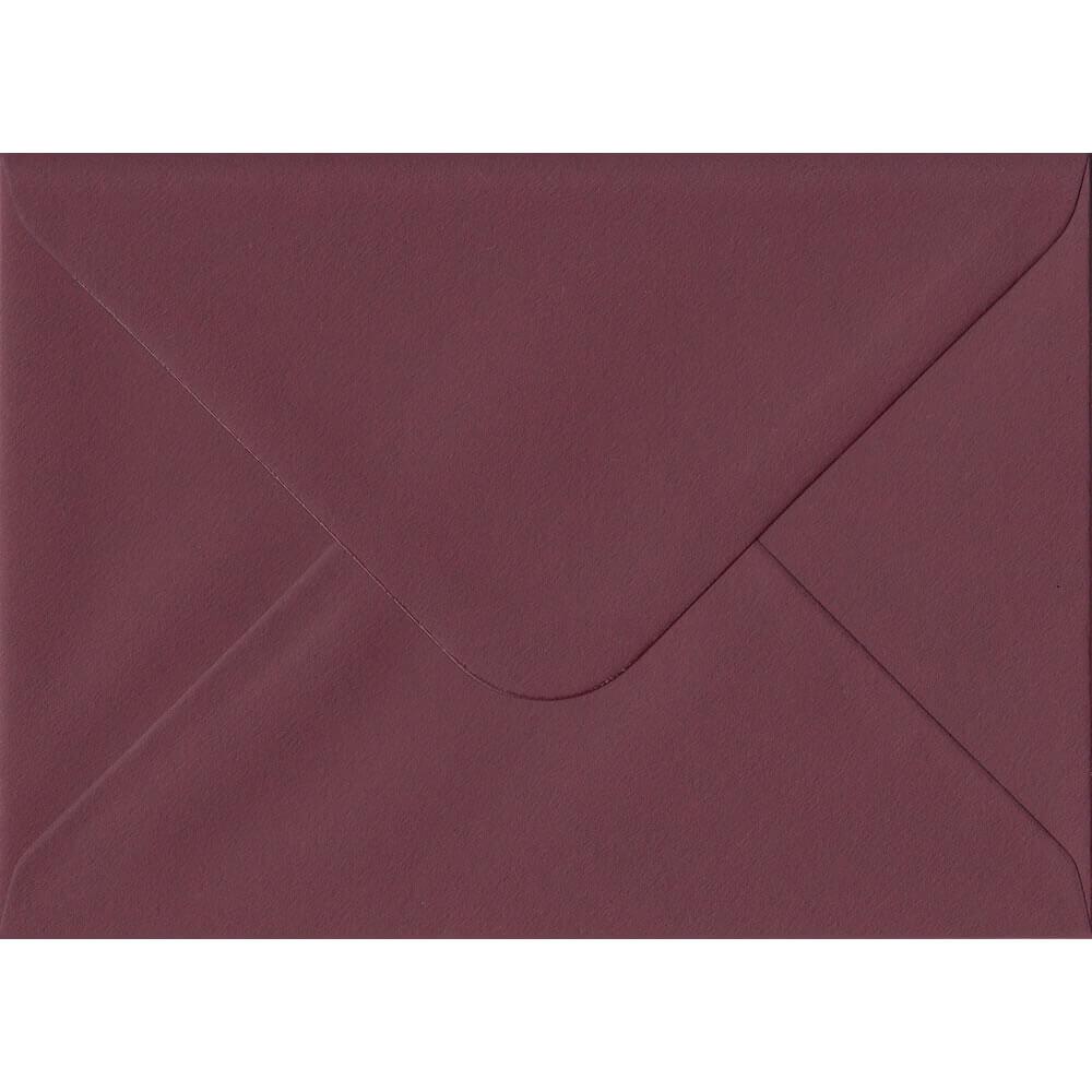 Bordeaux Burgundy Red 114mm x 162mm 120gsm Gummed C6/Quarter A4 Sized Envelope