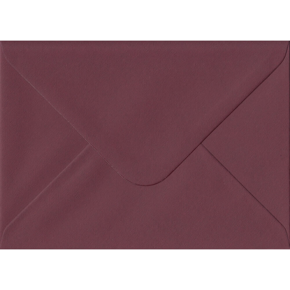100 A6 Red Envelopes. Deep Bordeaux Red. 114mm x 162mm. 120gsm paper. Gummed Flap.