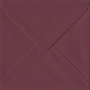 Bordeaux Burgundy Red 155mm x 155mm 120gsm Gummed Square Sized Envelope