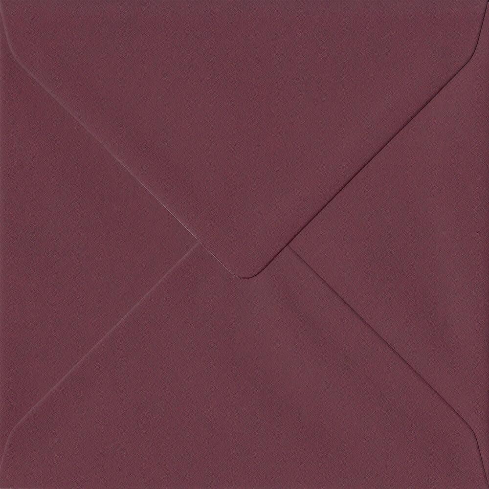 Bordeaux Burgundy Red 155mm x 155mm 120gsm Gummed Square Sized Envelope