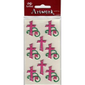 Pink Christian Cross Craft Embellishment By Artoz