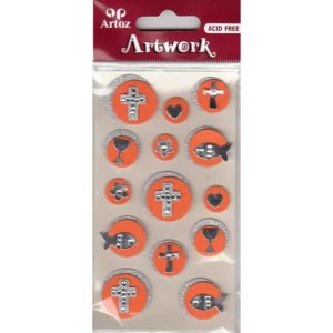Orange Christian Symbols Craft Embellishment By Artoz