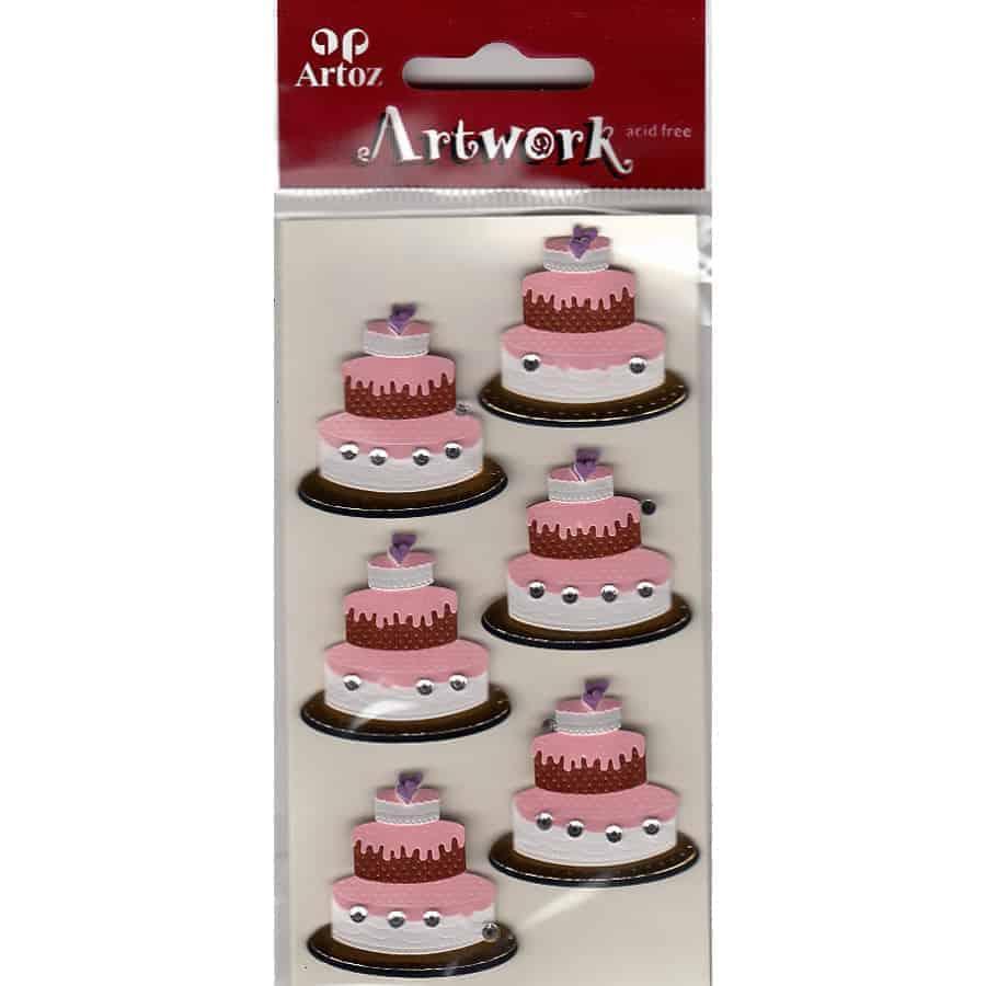 Wedding Cake Craft Sticker Wedding Card Embellishment Craft Supplies Uk