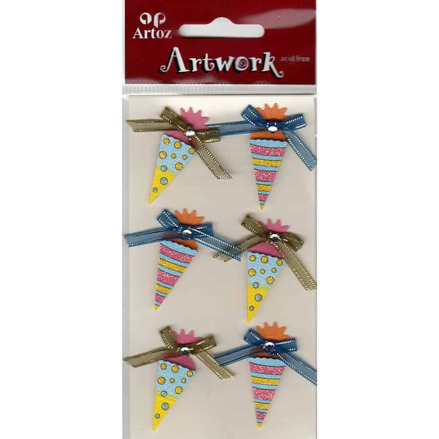 Ice Cream Cones Craft Embellishment By Artoz