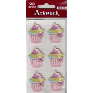 Cupcakes Craft Embellishment By Artoz
