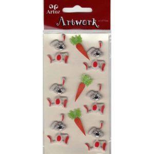 Rabbit And Carrot Craft Embellishment By Artoz