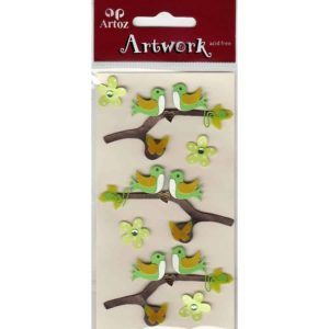 Birds On Branch Craft Embellishment By Artoz