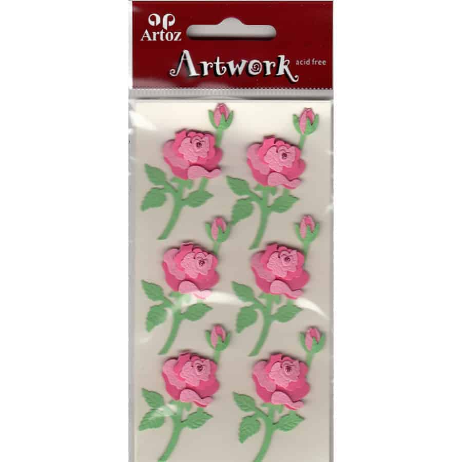 Pink Roses Craft Embellishment By Artoz