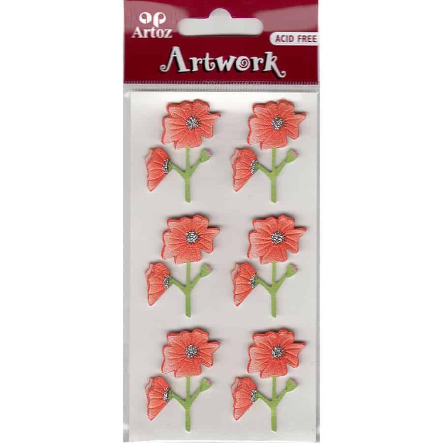 Orange Flowers Craft Embellishment By Artoz