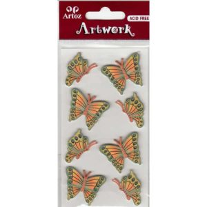 Green Yellow Butterflies Craft Embellishment By Artoz