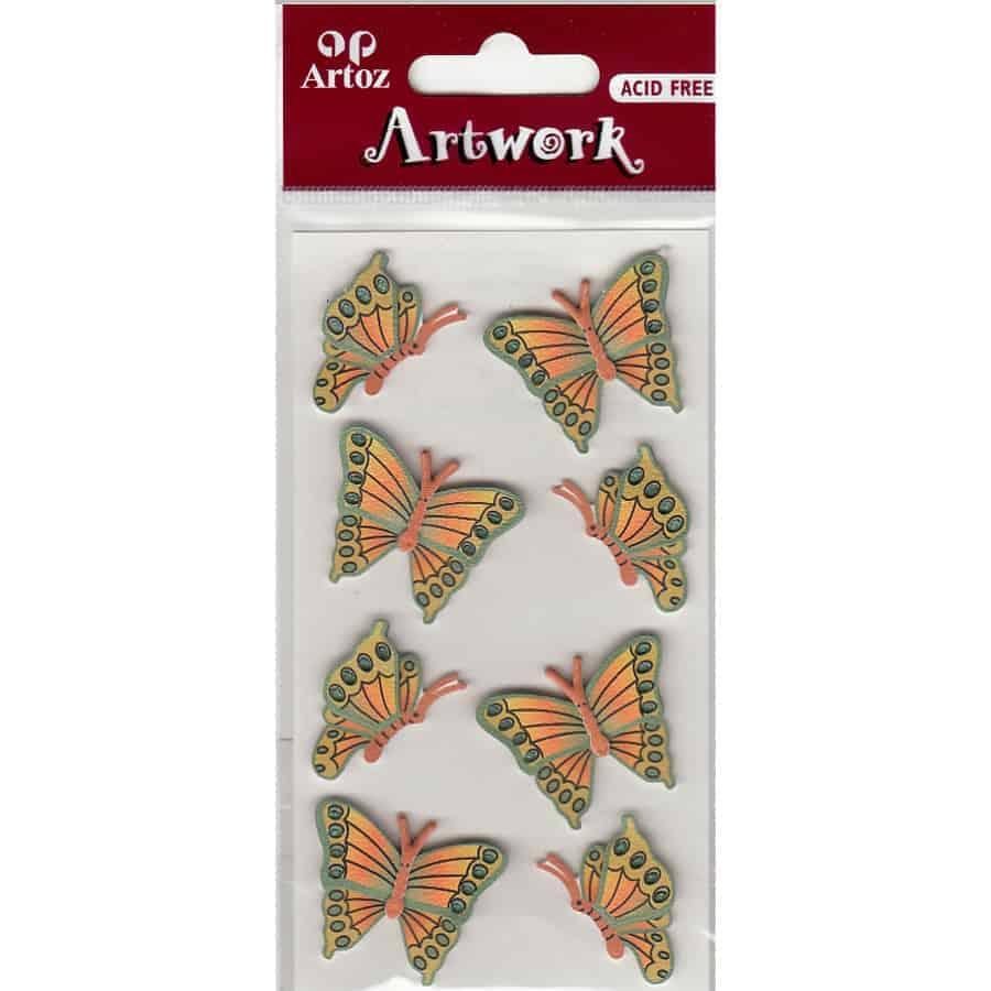 Green Yellow Butterflies Craft Embellishment By Artoz
