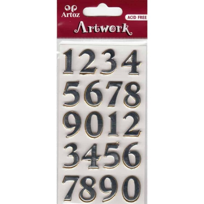 0-9 Numbers Craft Embellishment By Artoz