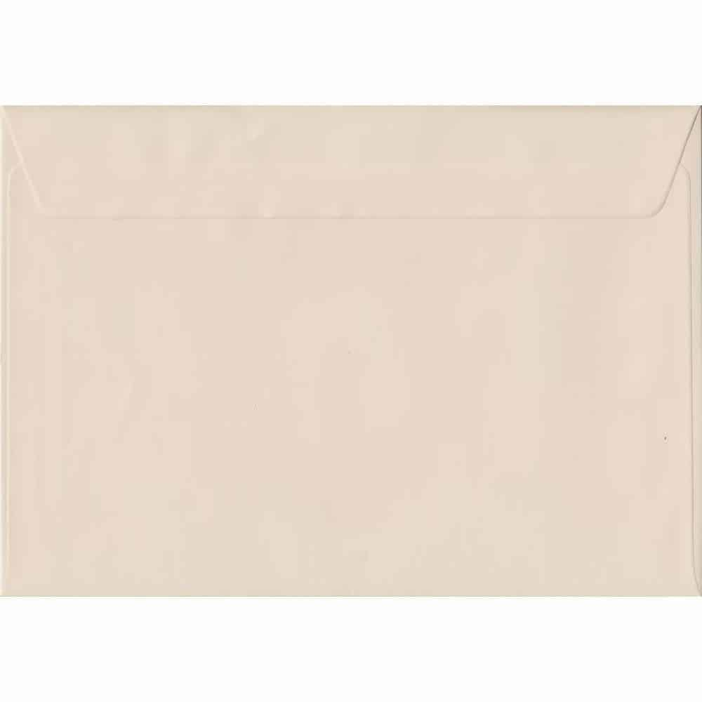 162mm x 229mm Ivory Cream Heavyweight 130gsm Envelope. C5/Half A4 Peel/Seal 130gsm. Discount Pack Of 100.