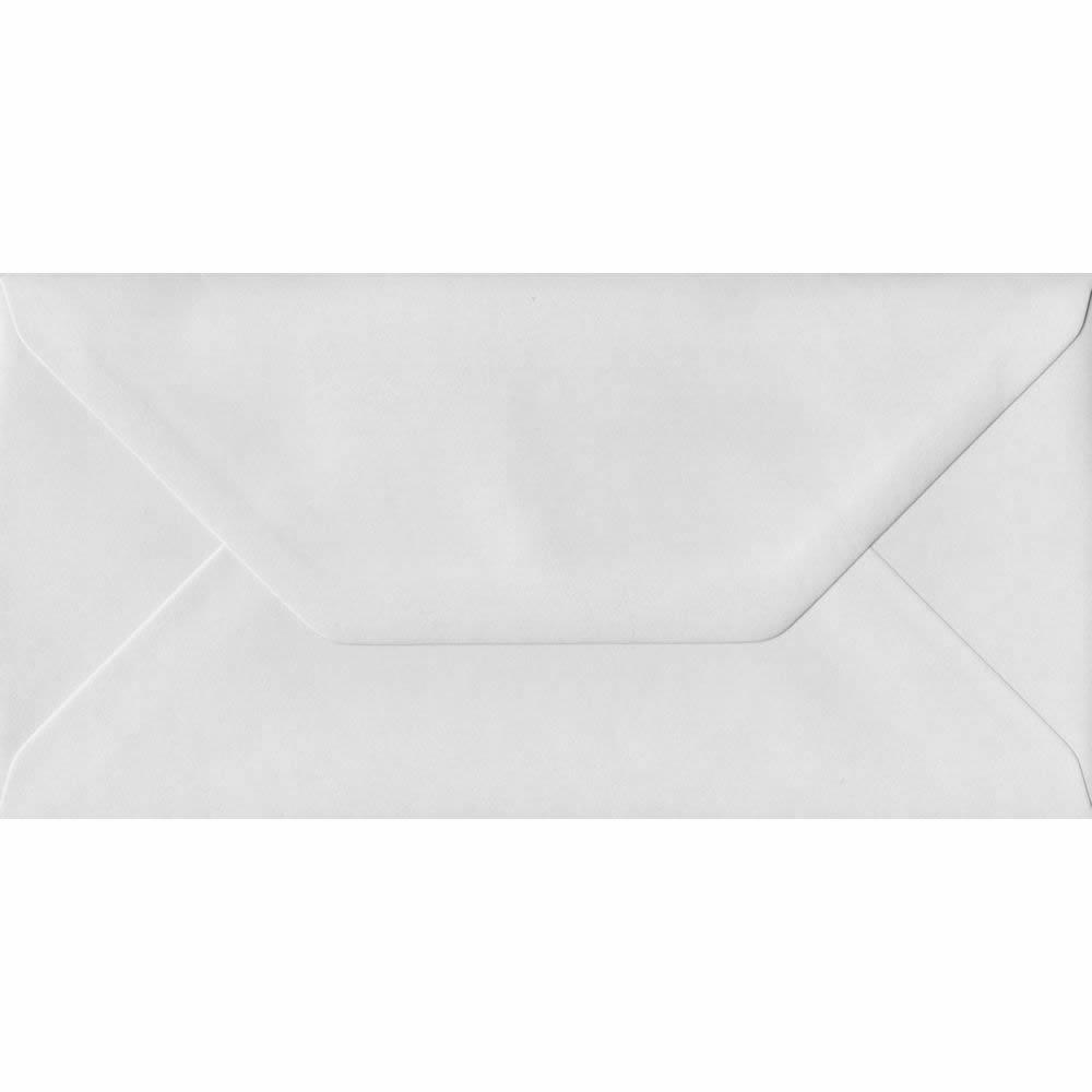 110mm x 220mm White Heavyweight Envelope. DL/Tri-Fold A4 Gummed 130gsm.