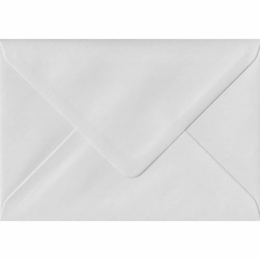 100 A6 White Envelopes. White Heavyweight. 114mm x 162mm. 140gsm paper. Gummed Flap.