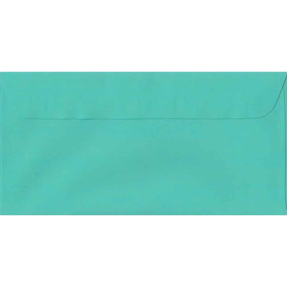 114mm x 224mm Emerald Green Laid Envelope. DL Paper Size. Peel/Seal Flap. 100gsm Paper.
