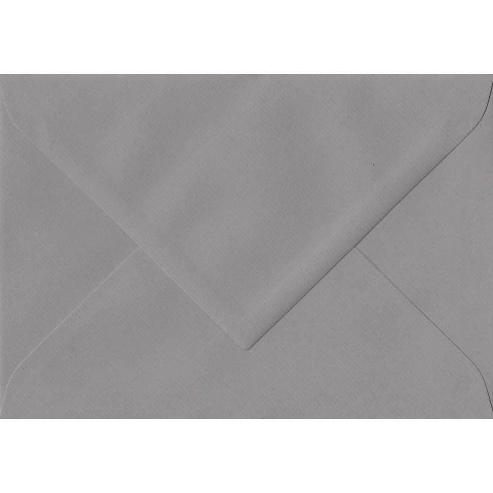 135mm x 191mm Graphite Grey Laid Envelope. 5x7 Paper Size. Gummed Flap. 100gsm Paper.