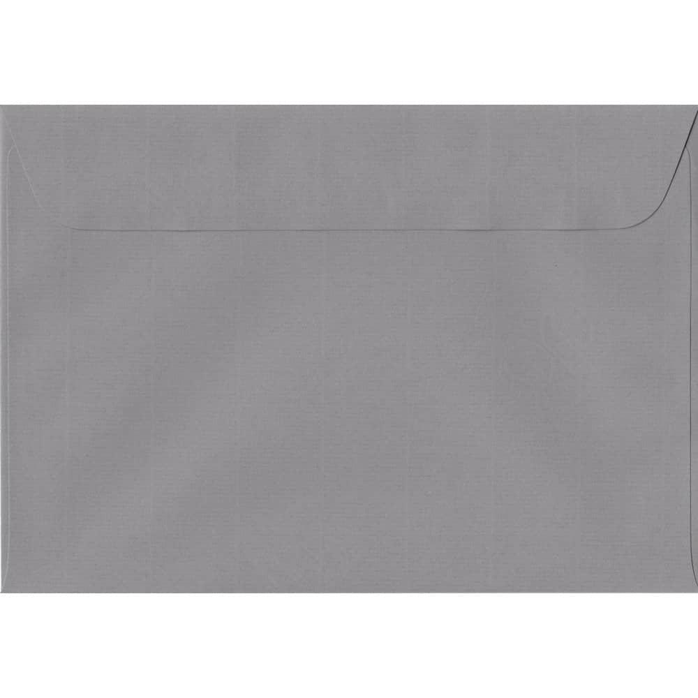 162mm x 229mm Graphite Grey Laid Envelope. C5/A5 Paper Size. Peel/Seal Flap. 100gsm Paper.