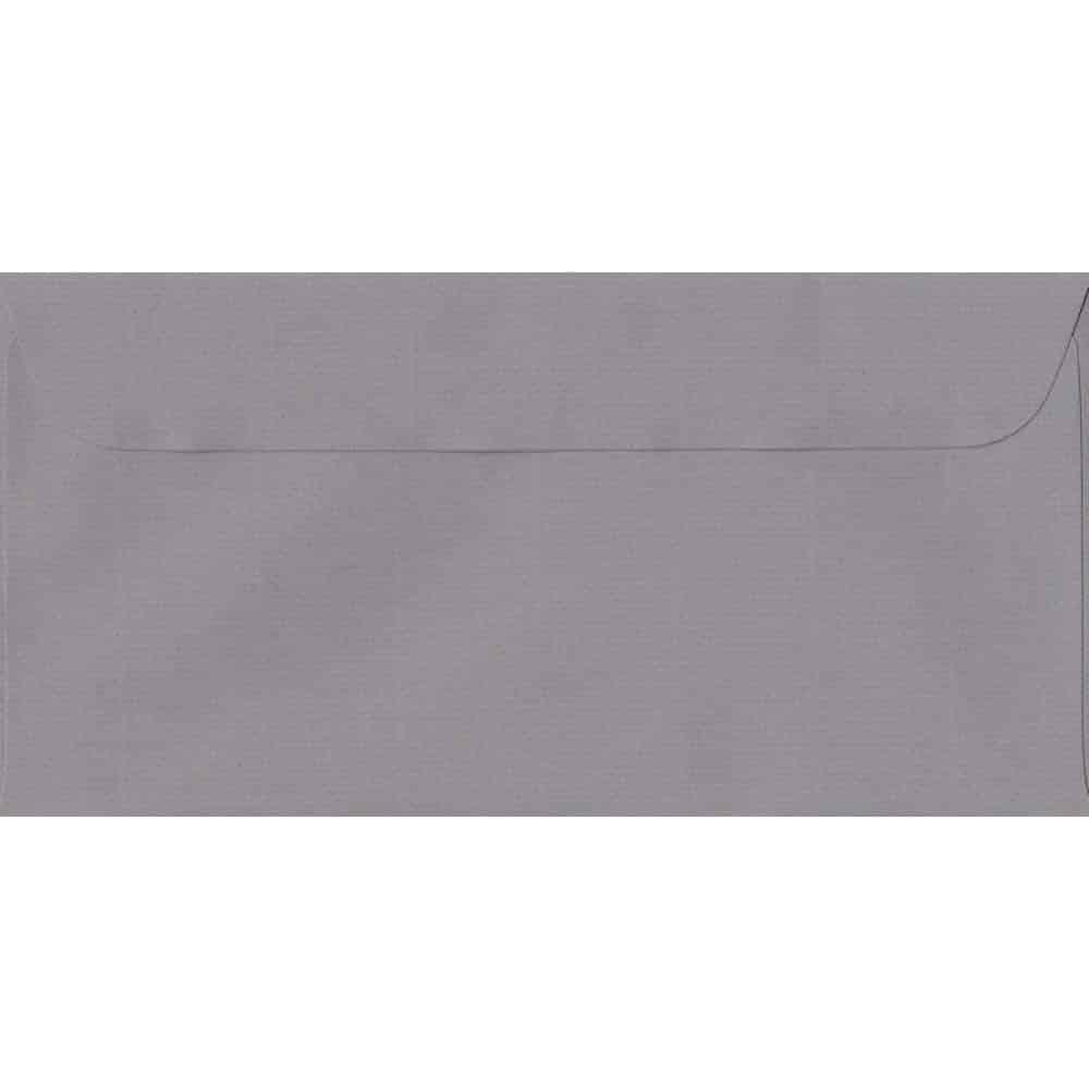 114mm x 224mm Graphite Grey Laid Envelope. DL Paper Size. Peel/Seal Flap. 100gsm Paper.