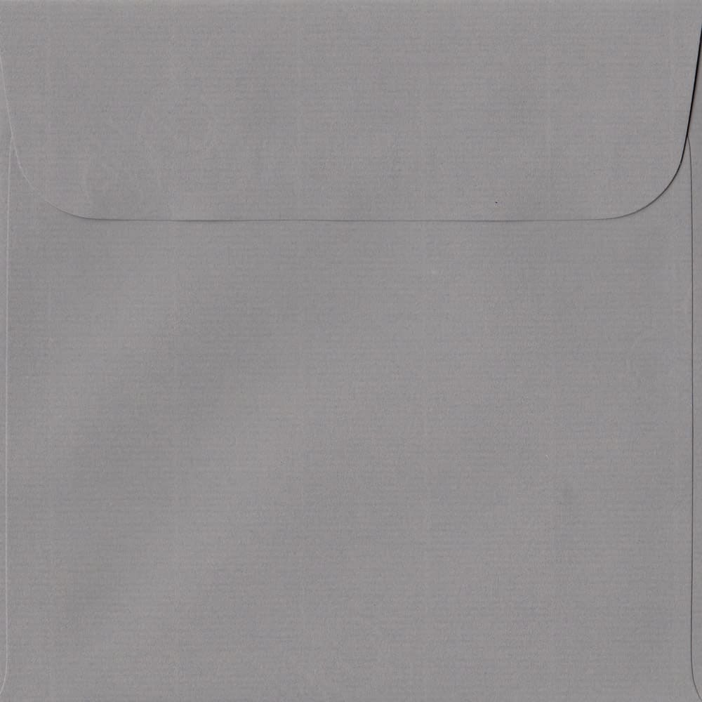 160mm x 160mm Graphite Grey Laid Envelope. Square Paper Size. Peel/Seal Flap. 100gsm Paper.