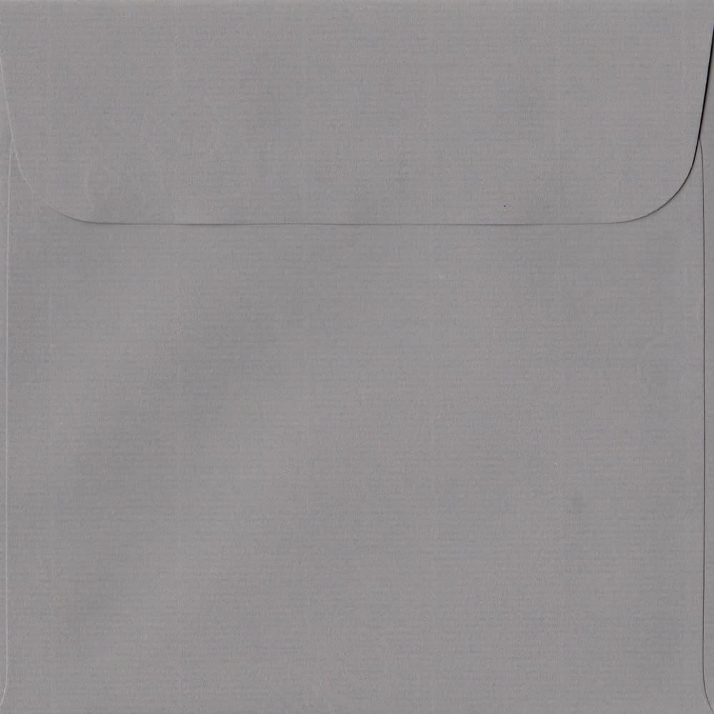 160mm x 160mm Graphite Grey Laid Envelope. Square Paper Size. Peel/Seal Flap. 100gsm Paper.
