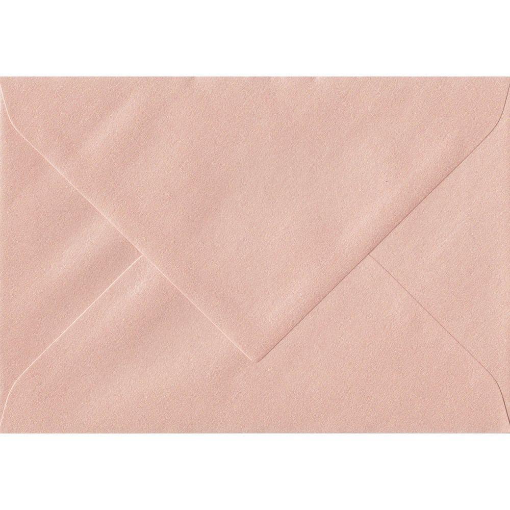 135mm x 191mm Peach Pearlescent Envelope. 5x7 Paper Size. Gummed Flap. 120gsm Paper.