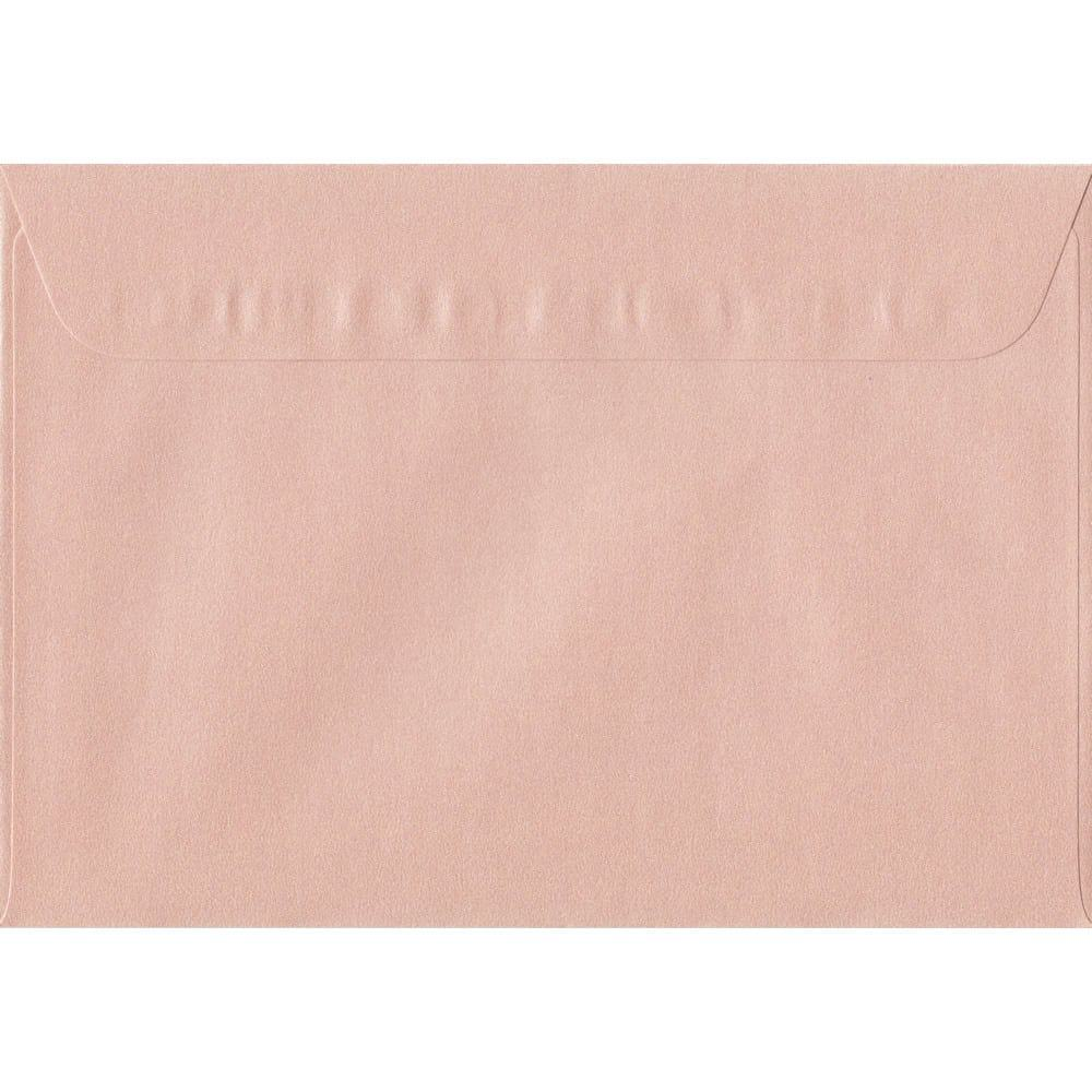 162mm x 229mm Peach Pearlescent Envelope. C5/A5 Paper Size. Peel/Seal Flap. 120gsm Paper.