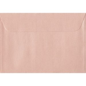 114mm x 162mm Peach Pearlescent Envelope. C6/A6 Paper Size. Peel/Seal Flap. 120gsm Paper.