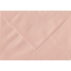 75mm x 110mm Peach Pearlescent Envelope. RSVP/Gift Card Size. Gummed Flap. 120gsm Paper.