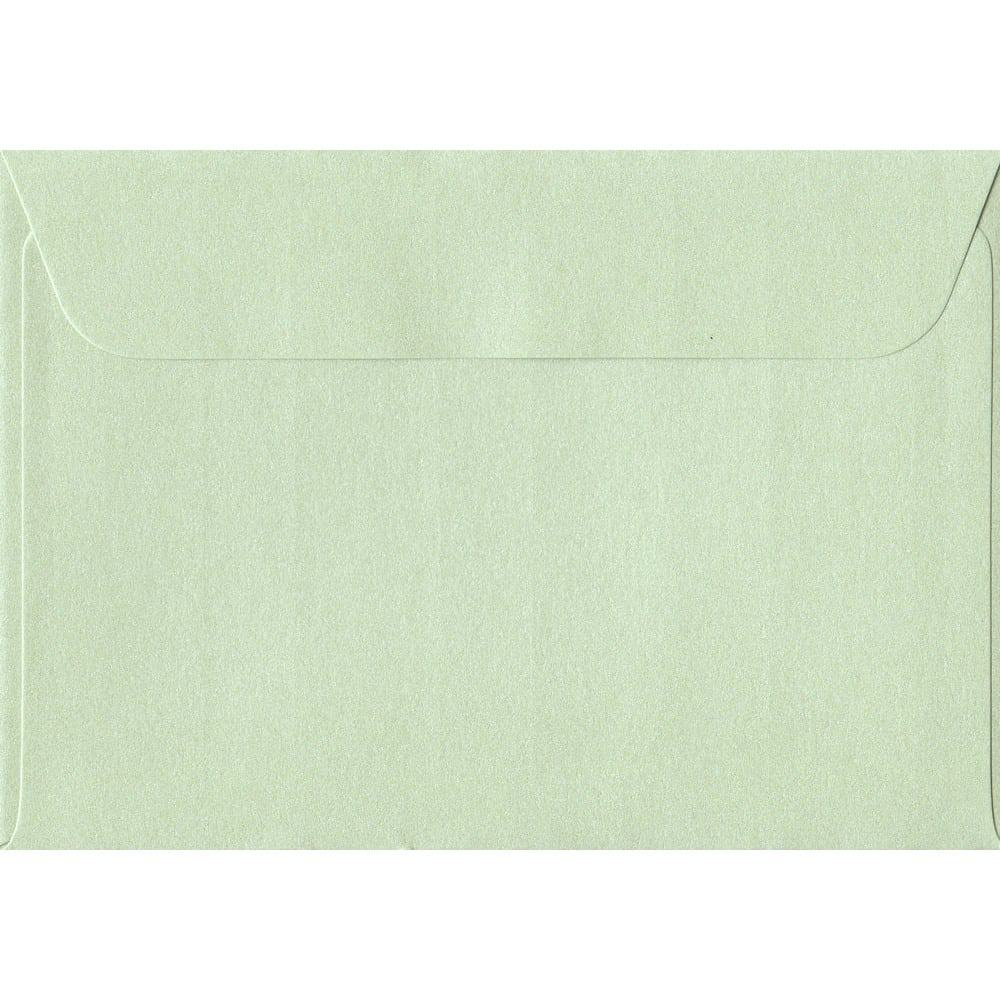 114mm x 162mm Pistachio Green Pearlescent Envelope. C6/A6 Paper Size. Peel/Seal Flap. 120gsm Paper.