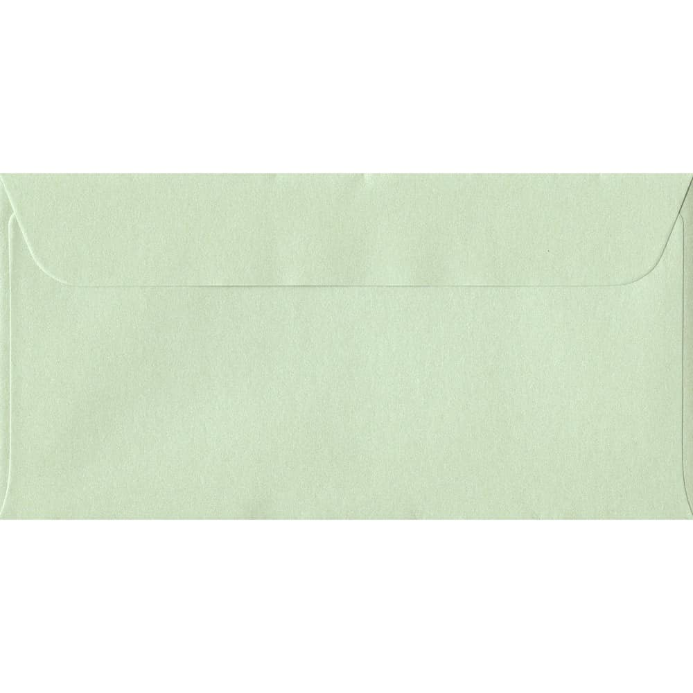114mm x 224mm Pistachio Green Pearlescent Envelope. DL Paper Size. Peel/Seal Flap. 120gsm Paper.