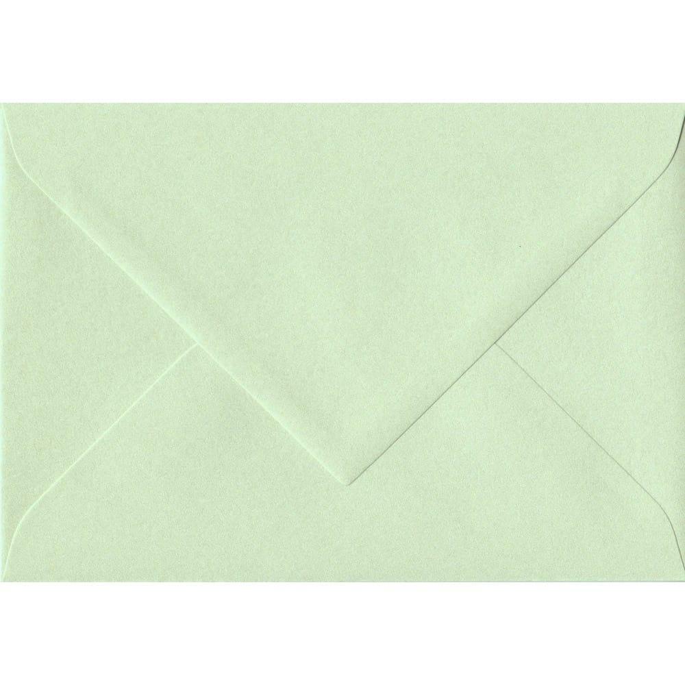 75mm x 110mm Pistachio Green Pearlescent Envelope. RSVP/Gift Card Size. Gummed Flap. 120gsm Paper.