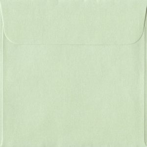 160mm x 160mm Pistachio Green Pearlescent Envelope. Square Paper Size. Peel/Seal Flap. 120gsm Paper.