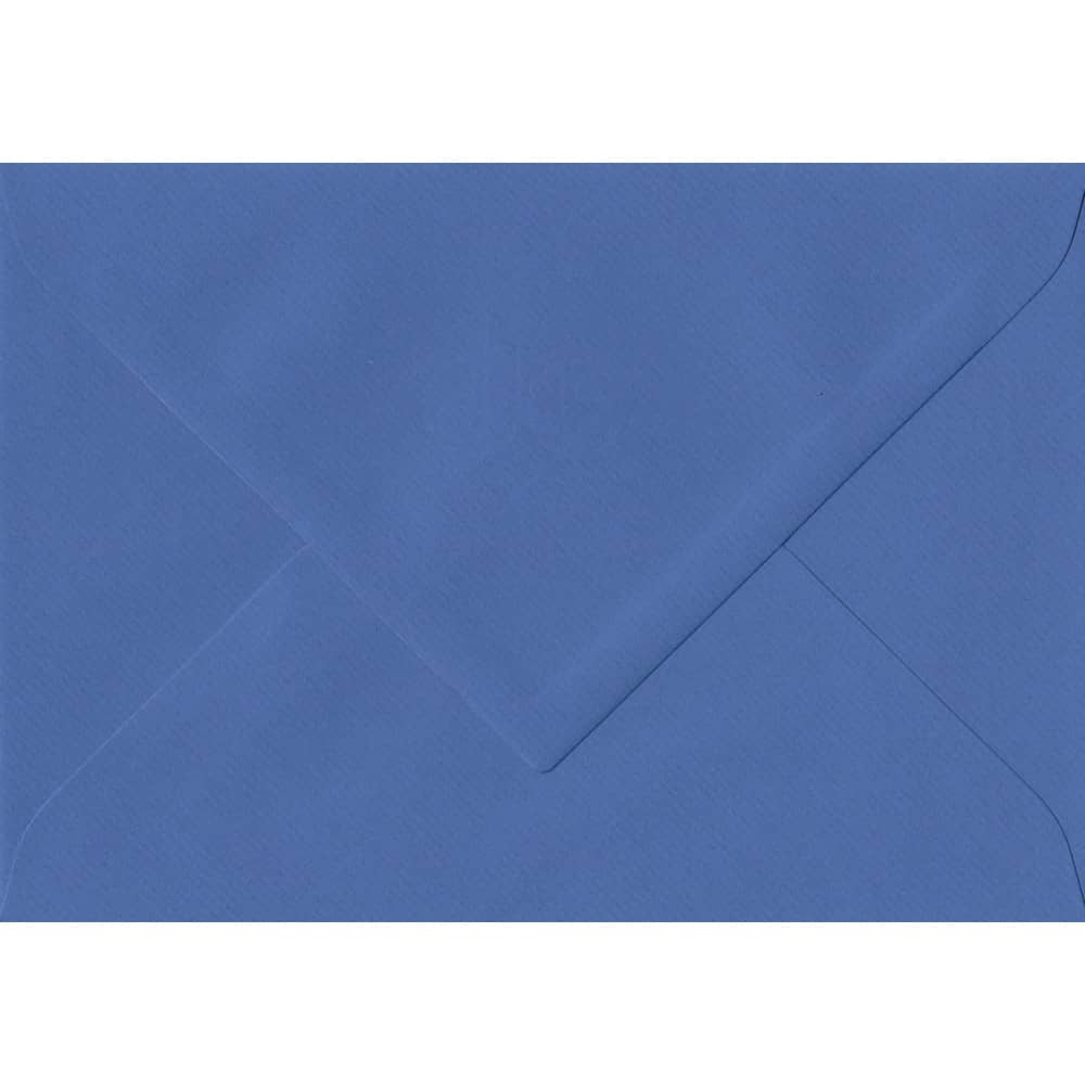 135mm x 191mm Royal Blue Laid Envelope. 5x7 Paper Size. Gummed Flap. 100gsm Paper.