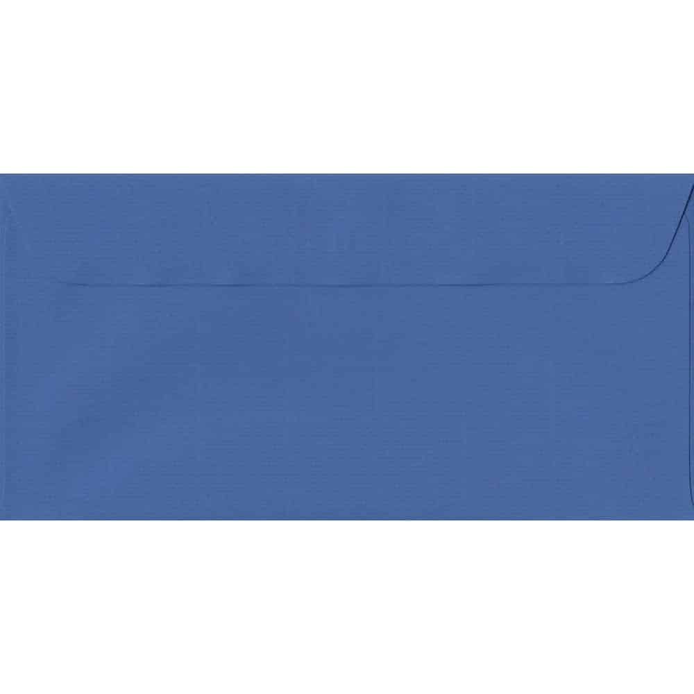 114mm x 224mm Royal Blue Laid Envelope. DL Paper Size. Peel/Seal Flap. 100gsm Paper.