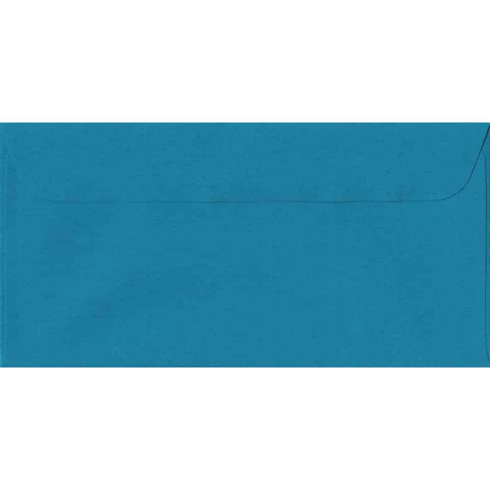 114mm x 224mm Petrol Blue Laid Envelope. DL Paper Size. Peel/Seal Flap. 100gsm Paper.