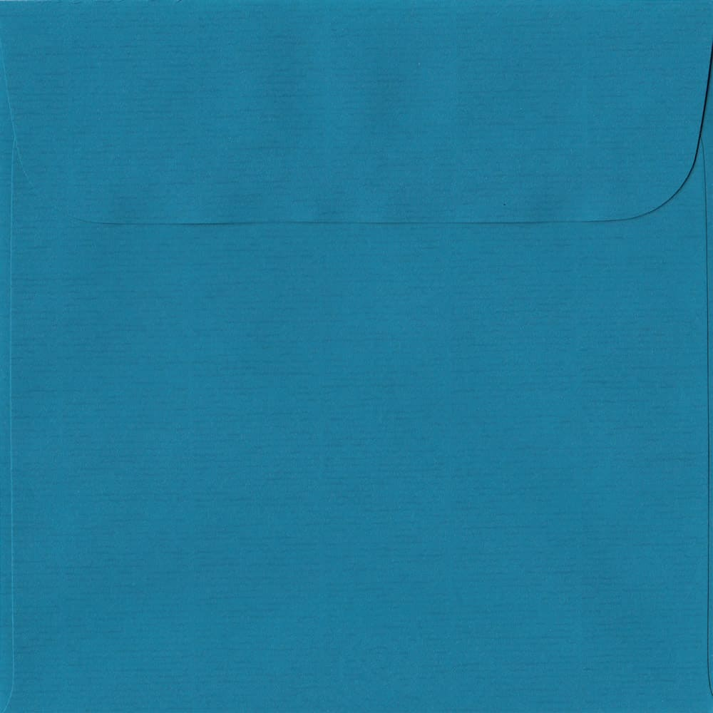 160mm x 160mm Petrol Blue Laid Envelope. Square Paper Size. Peel/Seal Flap. 100gsm Paper.