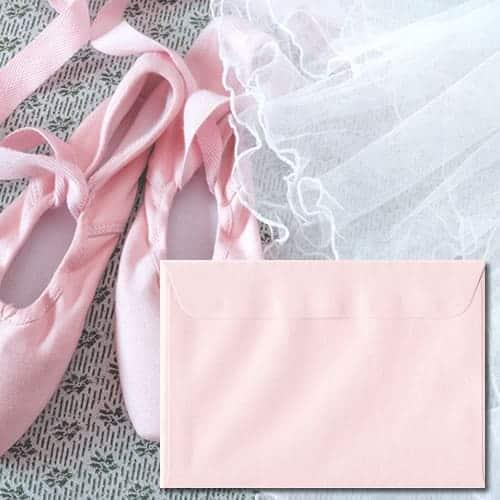 Ballerina Pink Pearl Envelopes