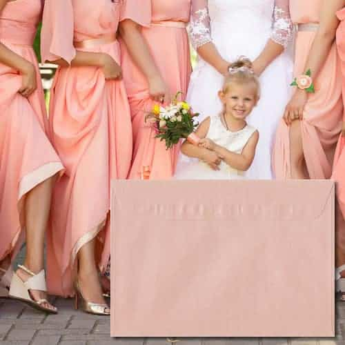 Peach Pearlescent Envelopes