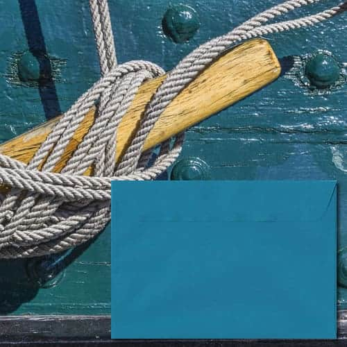 Petrol Blue Laid Envelopes