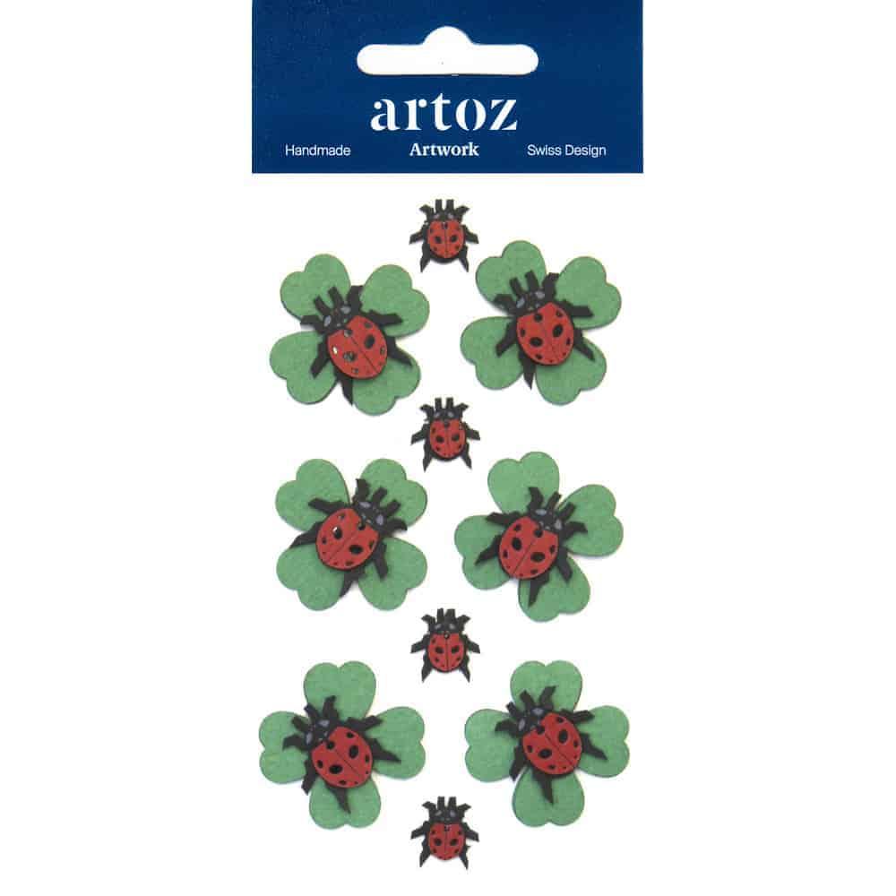 Ladybird Four Leaf Clover Craft Embellishment By Artoz