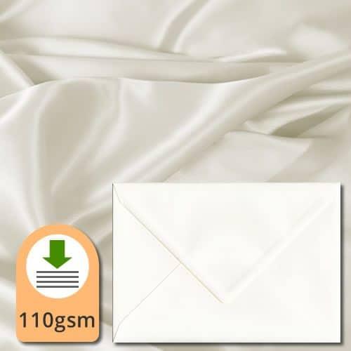 Ivory Silk Textured Envelopes