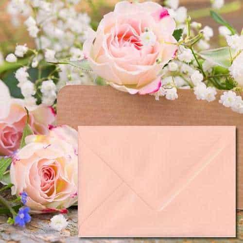 Salmon Pink Colour Envelopes