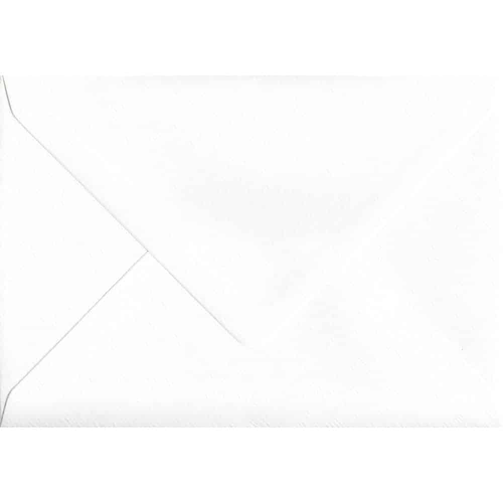 82mm x 113mm c7 to fit a7 alabaster textured envelopes white
