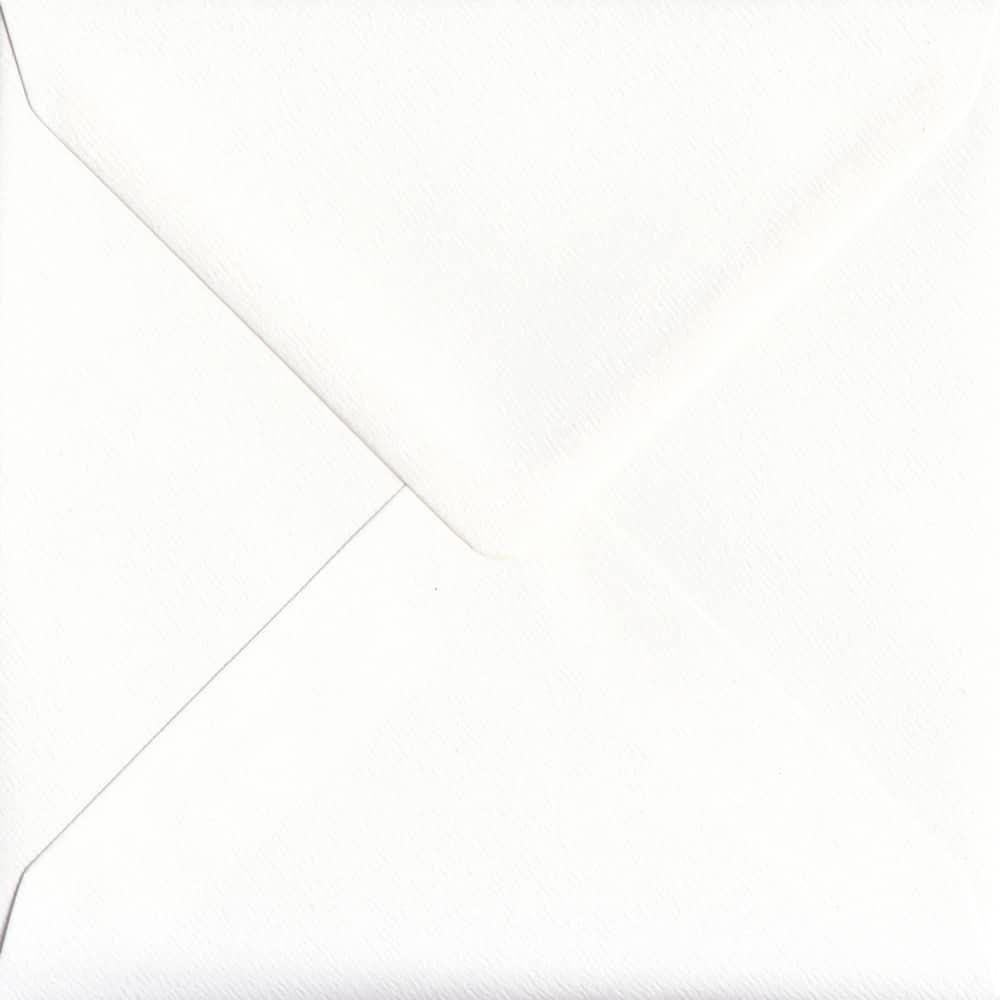 155mm x 155mm Alabaster Textured Envelope. Square Envelopes Size. Gummed Flap. 100gsm Paper.