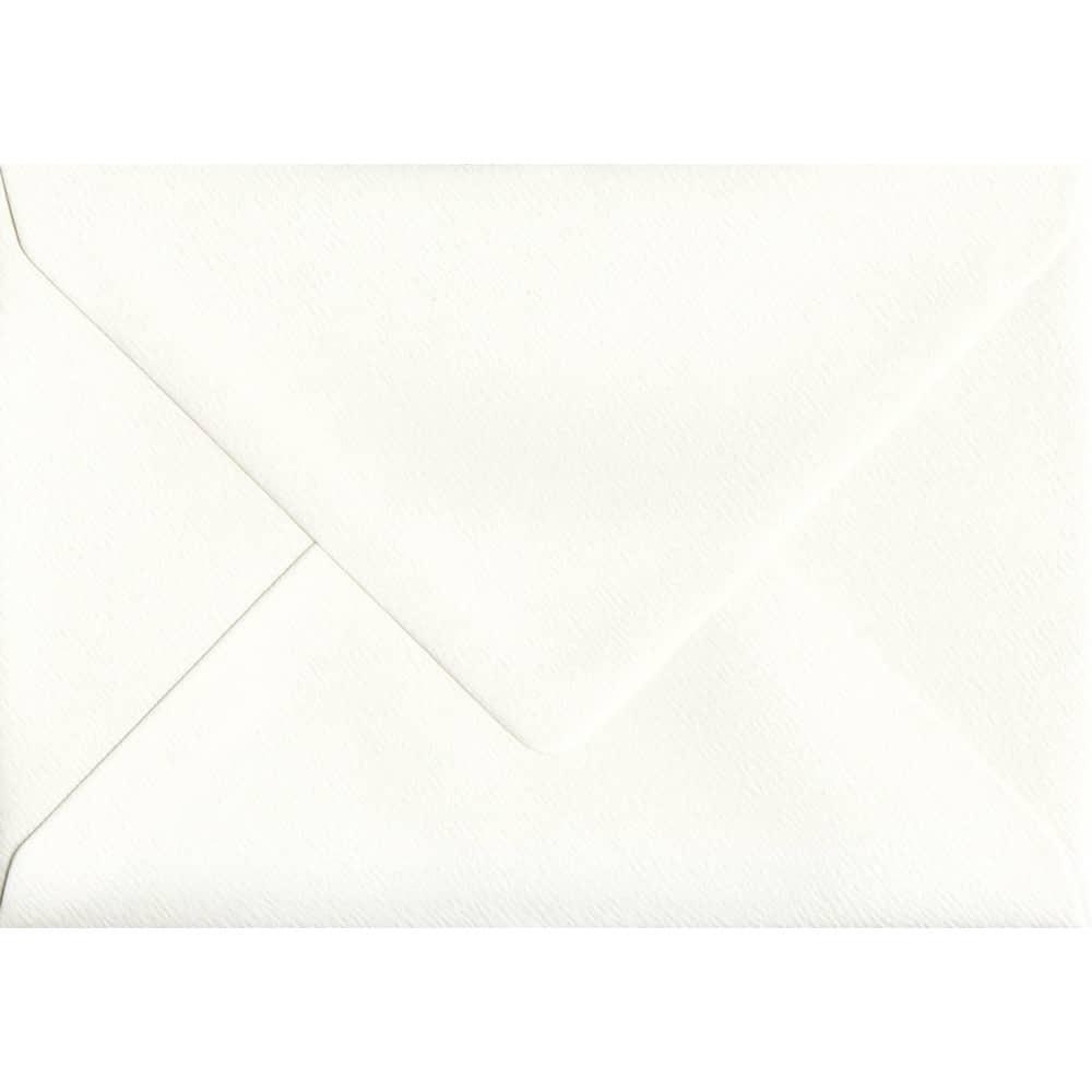 114mm x 162mm Antique Silk Textured Envelope. C6 (to fit A6) Size. Gummed Flap. 100gsm Paper.