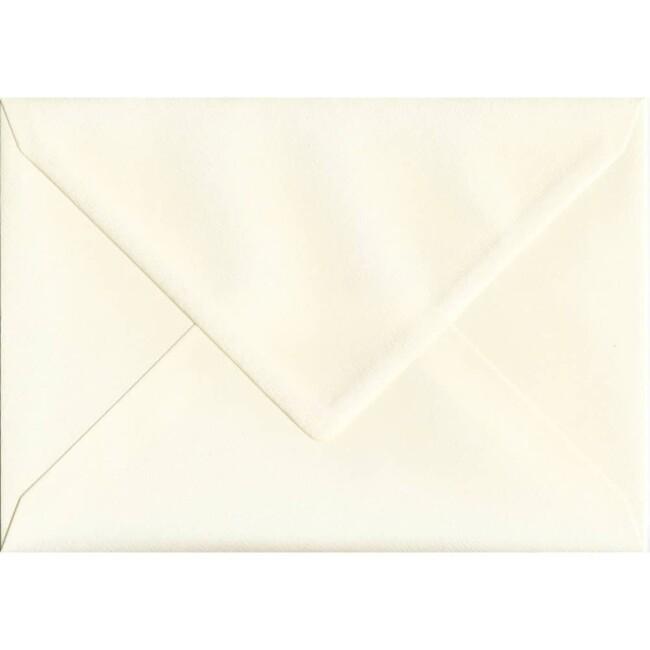 162mm x 229mm Magnolia Textured Envelope. C5 (to fit A5) Size. Gummed Flap. 100gsm Paper.