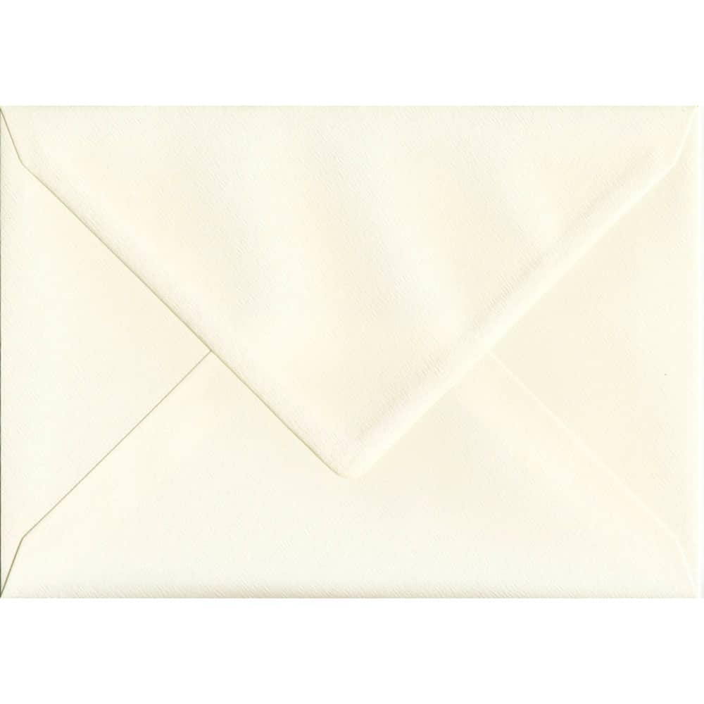162mm x 229mm Magnolia Textured Envelope. C5 (to fit A5) Size. Gummed Flap. 100gsm Paper.